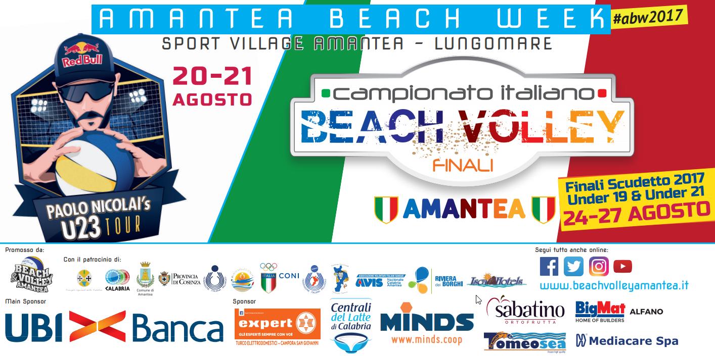 Anche quest'anno la tappa del Campionato Italiano di Beach Volley U19 ed U21 di Amantea è stato un progetto Avis Calabria