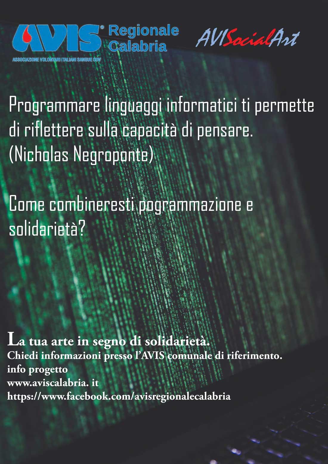 Programmare linguaggio informatici